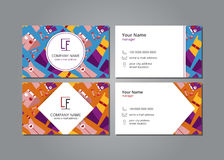 Vector visit card with women`s clothing set Royalty Free Stock Photos