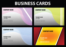Vector visit cards Stock Photo