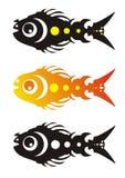 Vector vissen (drie varianten) Stock Afbeeldingen