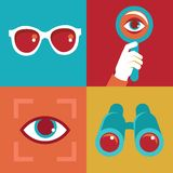 Vector visual concept and icons in flat style Stock Images