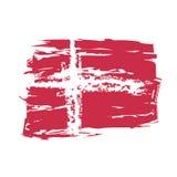 Vector Vlag Denemarken Royalty-vrije Stock Foto