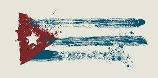 Vector vlag door vuile borstel Royalty-vrije Stock Fotografie