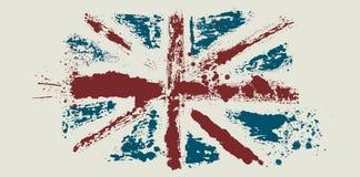 Vector vlag door vuile borstel Royalty-vrije Stock Afbeelding