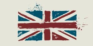 Vector vlag door vuile borstel Stock Foto's
