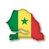 Vector Vlag Senegal Stock Foto's