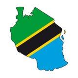 Vector Vlag Tanzania Royalty-vrije Stock Afbeeldingen