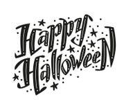Vector vlak Halloween-het van letters voorzien citaat Royalty-vrije Stock Afbeelding