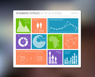 Vector vlak infographic gebruikersinterface Stock Foto's