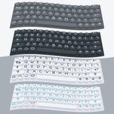 Vector vlak modern toetsenbord, alfabetknopen Materieel Ontwerp Stock Foto