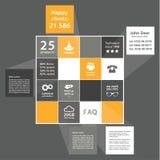 Vector vlak ontwerpmalplaatje. Abstracte vierkantenachtergrond met pla Stock Afbeelding
