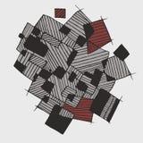 Vector vlakke abstracte geometrische patroon grijze, donkere grijze, bruine kleuren Royalty-vrije Stock Afbeeldingen