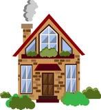 Vector vlakke huisillustratie Royalty-vrije Stock Foto