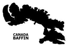 Vector Vlakke Kaart van Baffin Eiland met Titel royalty-vrije illustratie