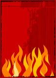 Vector vlamachtergrond Stock Afbeelding