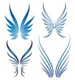 Vector vleugels Stock Fotografie
