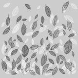 Vector vliegende bladerenachtergrond Royalty-vrije Stock Afbeelding