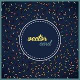 Vector vliegende bladerenkaart als achtergrond Stock Foto