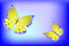 Vector vlinder als abstracte achtergrond Stock Fotografie
