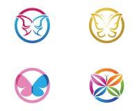 Vector - Vlinder conceptueel eenvoudig, kleurrijk pictogram embleem Vecto royalty-vrije illustratie