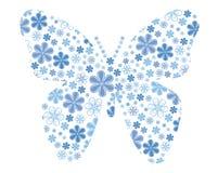 Vector vlinder met bloemtextuur Stock Fotografie