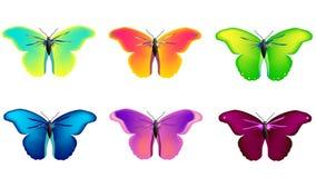 Vector vlinders royalty-vrije stock foto