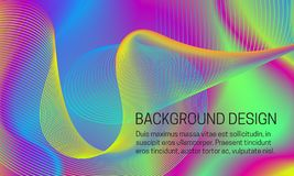 Vector vlotte iriserende achtergrond met chaotisch wervelend guilloche element vector illustratie