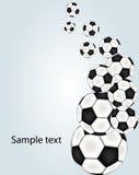 Vector voetbalachtergrond Stock Foto's