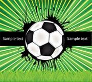 Vector voetbalachtergrond stock illustratie