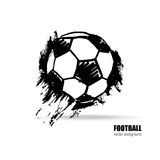 Vector voetbalbal Stock Foto's