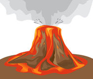 Vector volcano illustration Royalty Free Stock Image