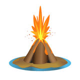 Vector volcano illustration Royalty Free Stock Images