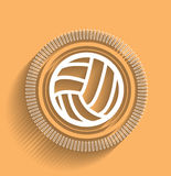 Vector volleyball icon flat modern design Stock Photography