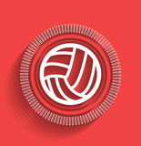 Vector volleyball icon flat modern design Stock Photos