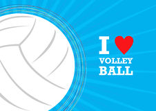 Vector volleyball themed background Stock Images