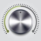 Volume knob. Vector volume knob. Eps 10 royalty free illustration