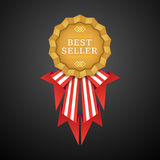 Vector volumetric badge flat design Royalty Free Stock Photography