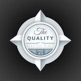 Vector volumetric badge flat design Royalty Free Stock Images