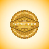 Vector volumetric badge flat design Stock Photo