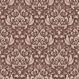 Vector volumetric damask seamless pattern background. Elegant luxury embossed texture for wallpapers, backgrounds and Stock Photo