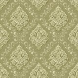 Vector volumetric damask seamless pattern background. Elegant luxury embossed texture for wallpapers, backgrounds and Royalty Free Stock Photography