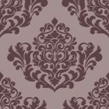 Vector volumetric damask seamless pattern element. Elegant luxury embossed texture for wallpapers, backgrounds and page Royalty Free Stock Photos