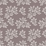 Vector volumetric flower seamless pattern background. Elegant luxury embossed texture for backgrounds, seamless texture. For wallpapers. Classical floral 3d Stock Image