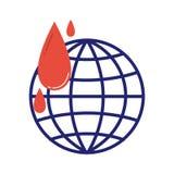 Vector voluntario del icono de la donación de sangre Imágenes de archivo libres de regalías