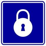 Vector Vorhängeschloss- oder Verriegelungszeichen Lizenzfreie Stockfotos
