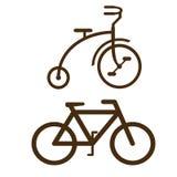 Vector vormen van fietsen Stock Foto