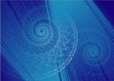 Vector vortex background. Deep Stock Images
