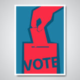 Vector vote election cover design Royalty Free Stock Photography