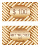 Vector voucher template. Royalty Free Stock Photography
