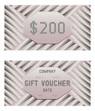 Vector voucher template. Gift voucher template with pattern. Stock Images