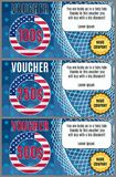 Vector vouchers on the American sale bright with a flag royalty free illustration